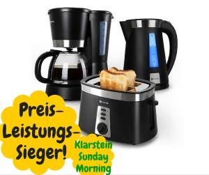 Klarstein Sunday 3 in 1 Preis-Leistungs-Sieger Frühstückssets