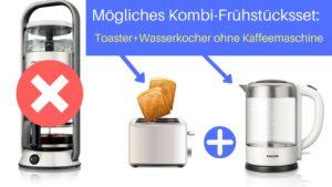 Frühstücksset ohne Kaffeemaschine