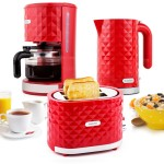 Klarstein Granada Rossa Design Frühstücksset 3-teiliges Küchenset