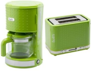 Kaffeemaschine Toaster Wasserkocher Set grün
