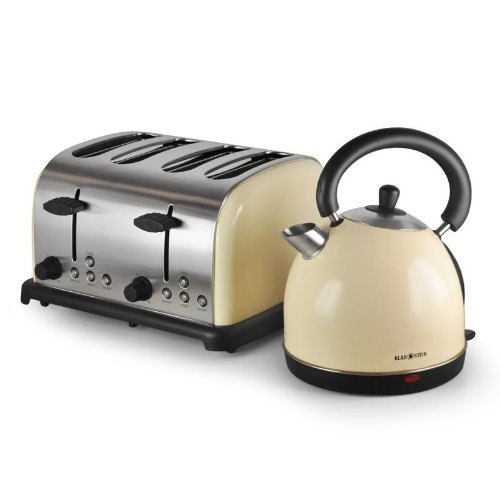 frühstücksset Kaffeemaschine toaster wasserkocher beige