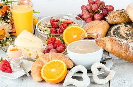 Frühstückssets in orange sind manchmal schwer zu bekommen