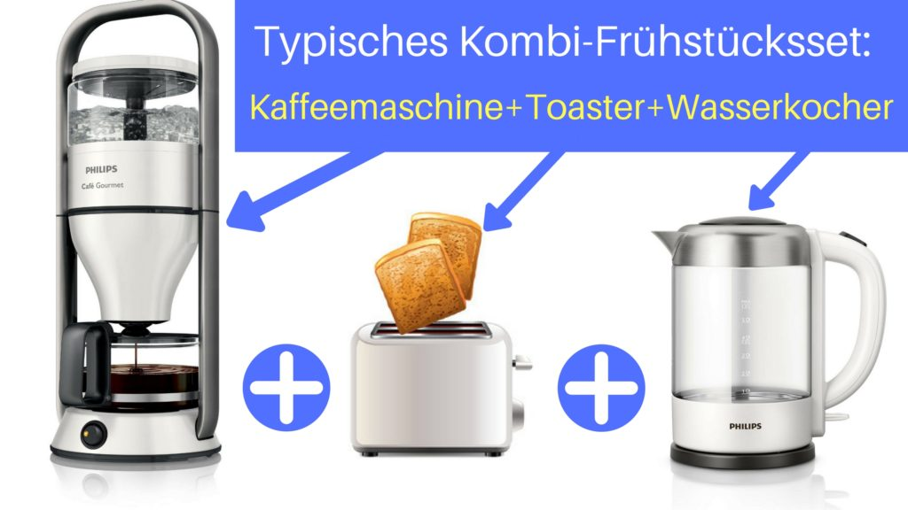 Frühstücksset Kaffeemaschine Toaster Wasserkocher