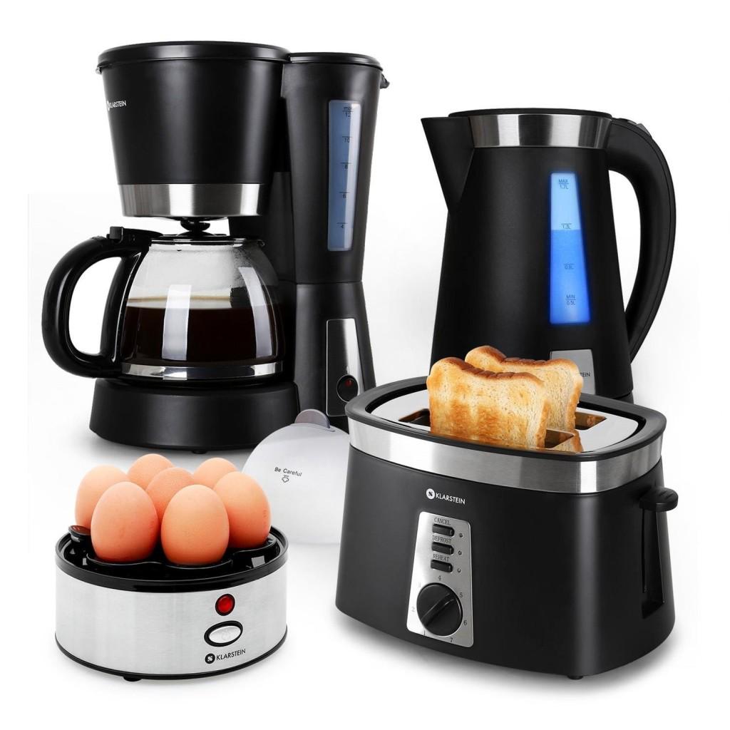Klarstein Sunday Morning 4 in 1 Frühstücksset mit Eierkocher